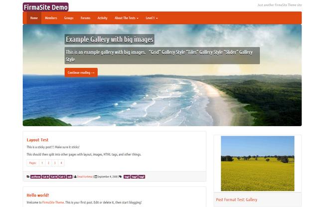 Firmasite Free WordPress Theme