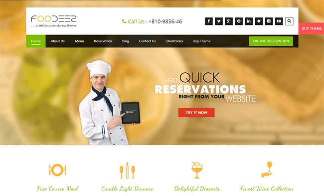 Foodeez Free WordPress Theme