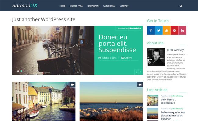 HarmonUX Core Free WordPress Theme