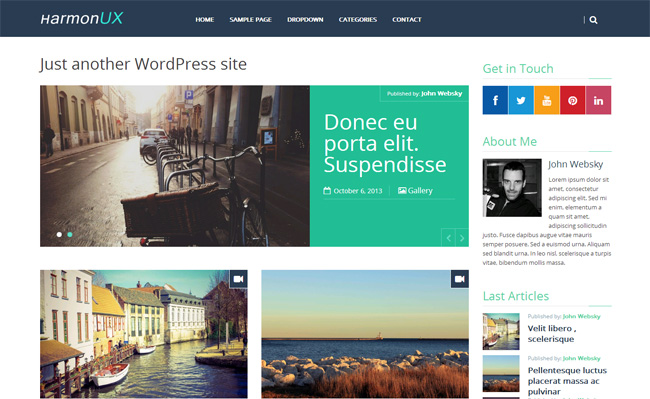 HarmonUX Core Free WordPress Theme