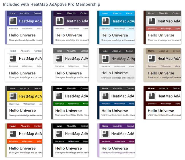 Colour Schemes of the Pro Version of HeatMap Theme