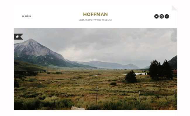 Hoffman Free WordPress Theme