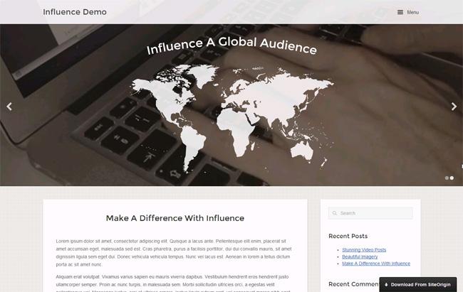 Influence Free WordPress Theme