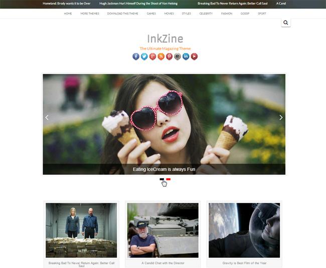 InkZine Free WordPress Theme