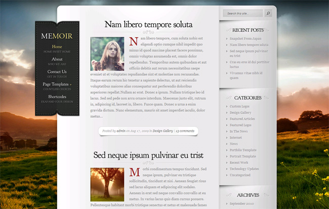 Memoir WordPress Theme