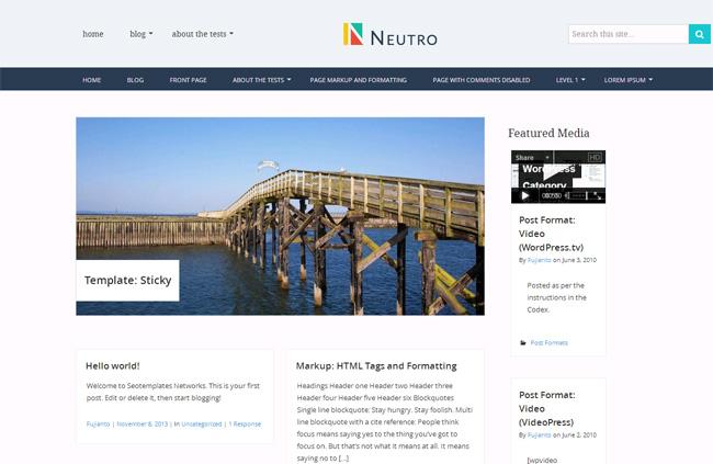 Neutro Free WordPress Theme