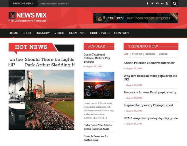 News Mix  Free WordPress Theme