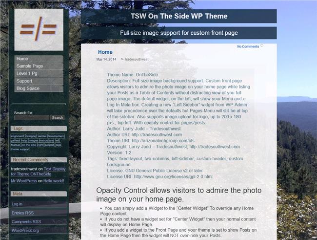 OnTheSide Free WordPress Theme