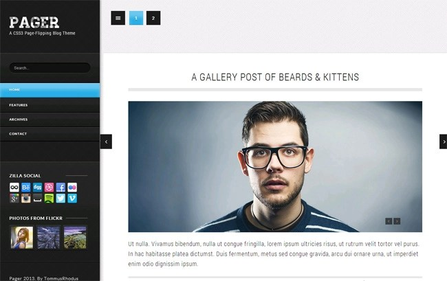 Pager WordPress Theme