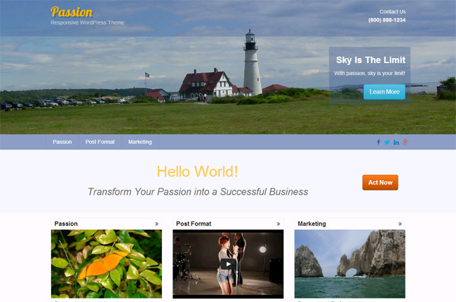 Passion Free WordPress Theme