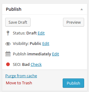 Publish preview and save draft