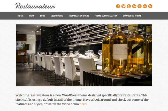 Restaurateur Free WordPress Theme