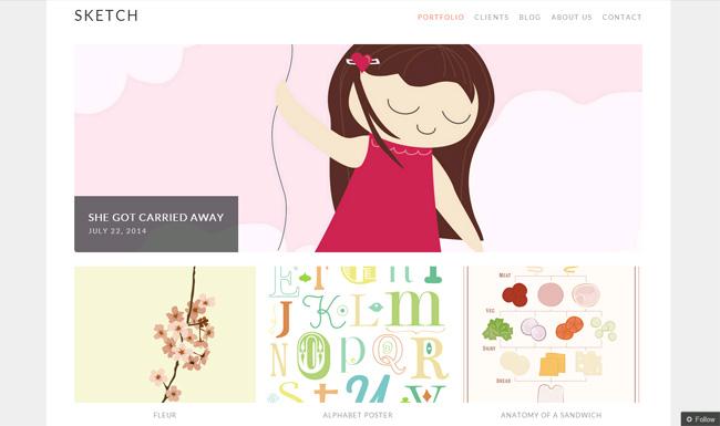 Sketch Free WordPress Theme