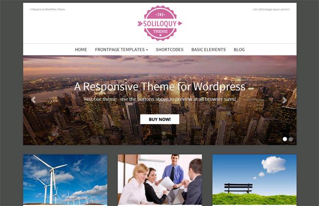 Soliloquy Free WordPress Theme