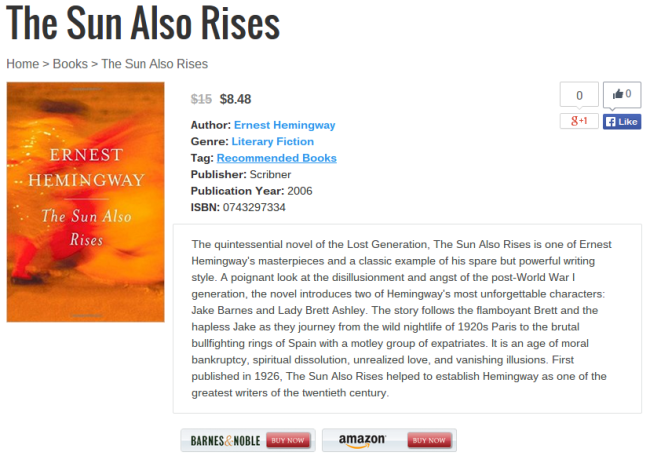 the sun also rises page