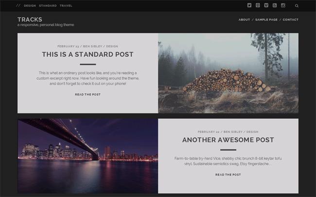 Tracks Free WordPress Theme