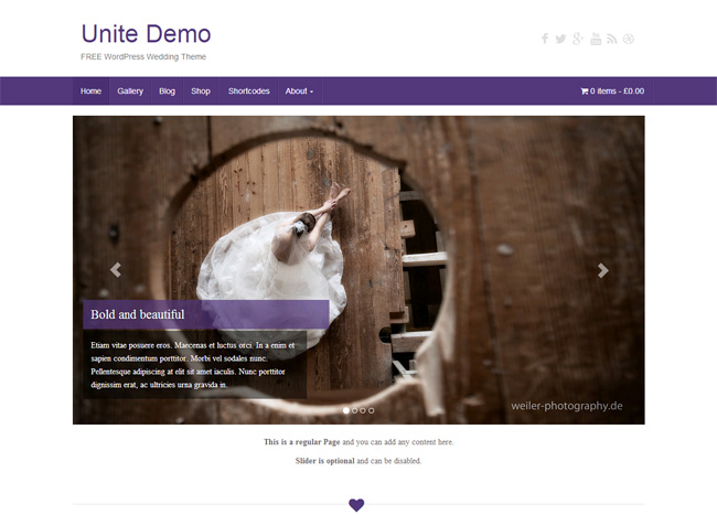 Unite Free WordPress Theme