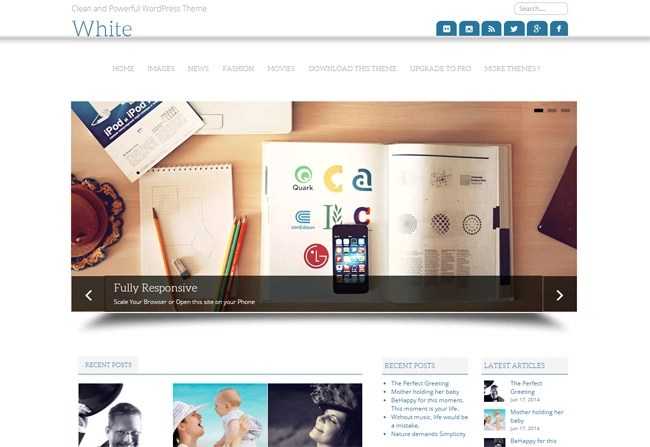 White Free WordPress Theme