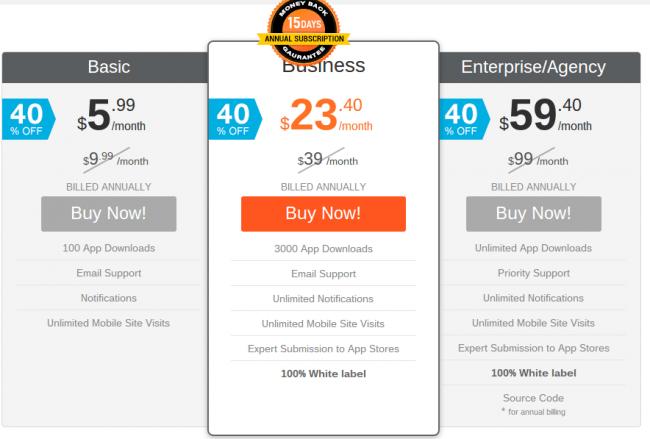 IbuildApp Pricing