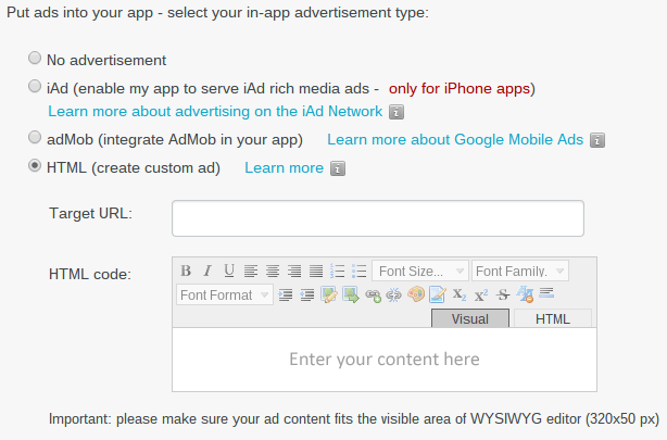 Putting Ads in Your App