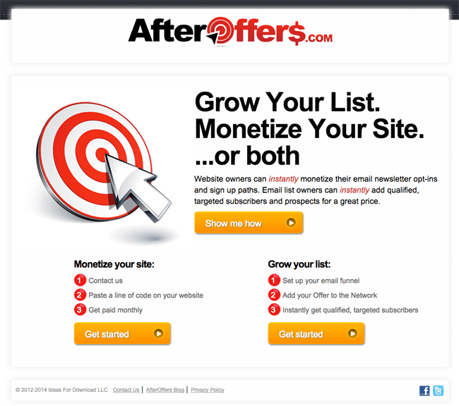 AfterOffers Home Page