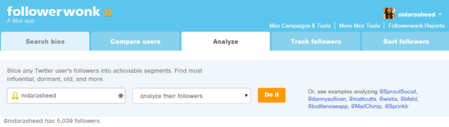 Analyze Users - Followers