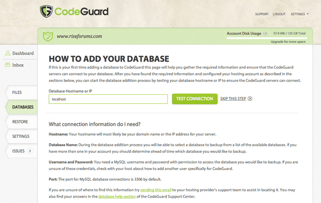 How to Add Your Database