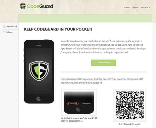 CodeGuard Mobile App