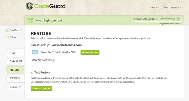 Restoring Your Website Using CodeGuard