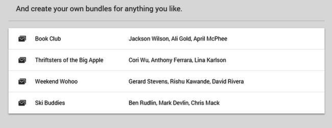 Inbox: create bundles