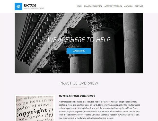 Factum Premium WordPress Theme