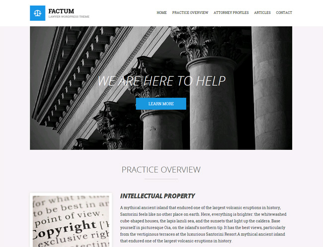 Factum Premium WordPress Theme