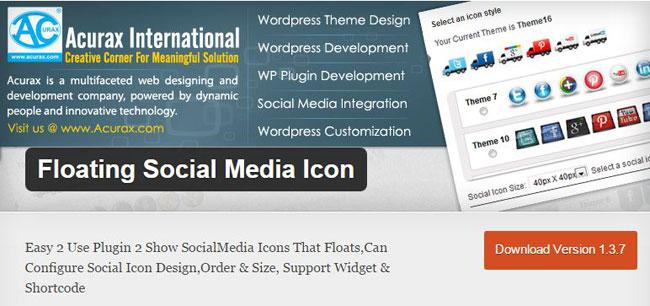 Floating Social Media Icon