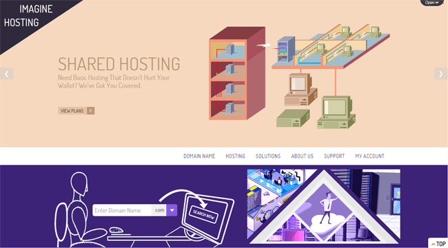 Imagine Hosting WordPress Theme