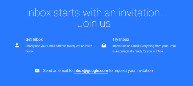 Inbox: Invite