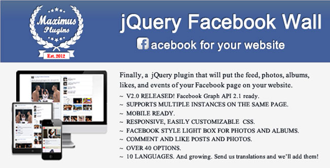 jQuery Facebook Wall