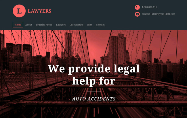 Lawyers Premium WordPress Theme