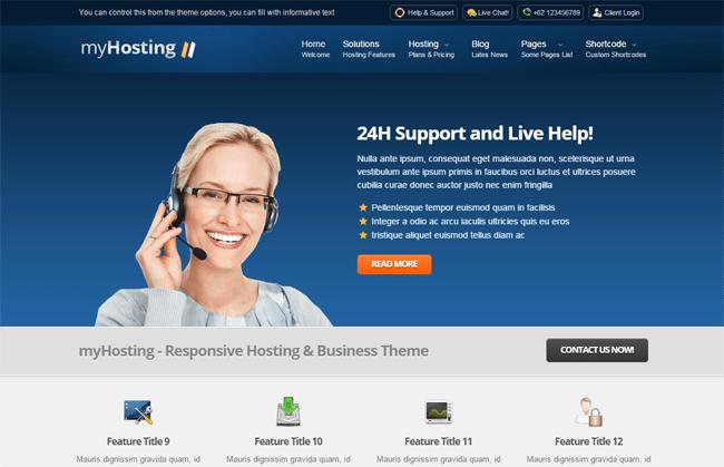 myHosting WordPress Theme