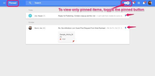 Inbox: Pinned