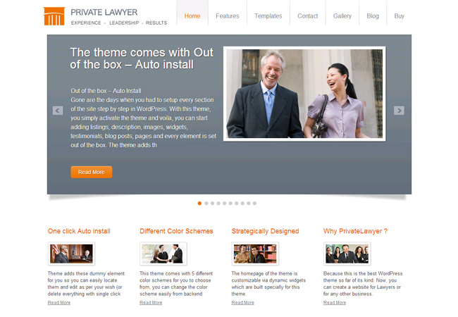 Private Lawyer Premium WordPress Theme