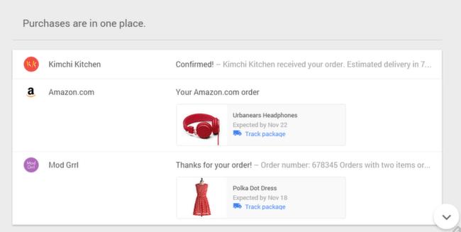 Inbox: Purchases