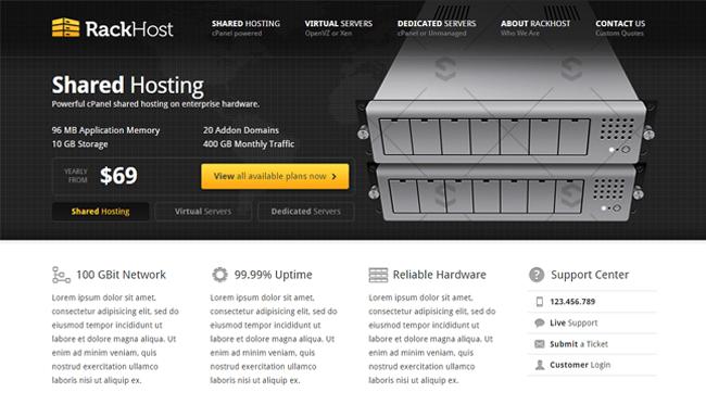 Rackhost WordPress Theme