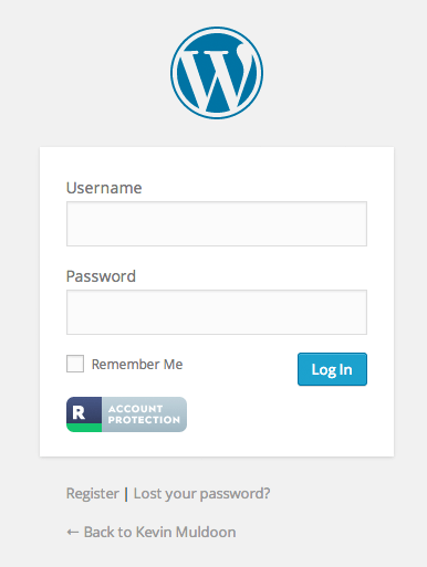 Logging In to Your Website