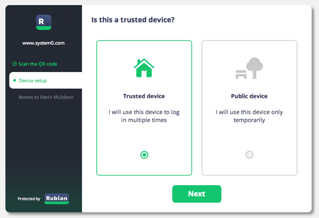 Verifying a Trusted Device