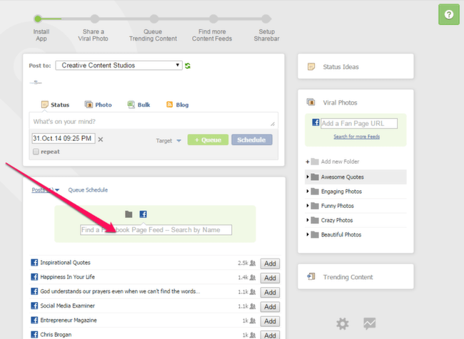 PostPlanner: Viral Content View