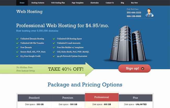 WebHosting WordPress Theme