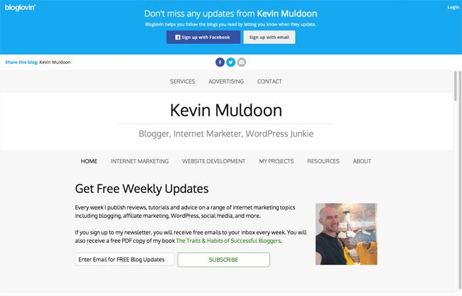 BlogLovin on KevinMuldoon