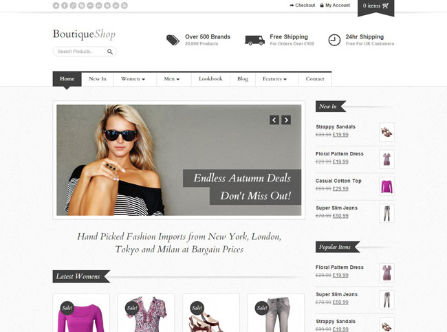 Boutique Shop WordPress Theme