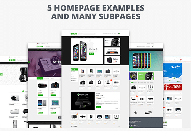 Five HomePage Examples