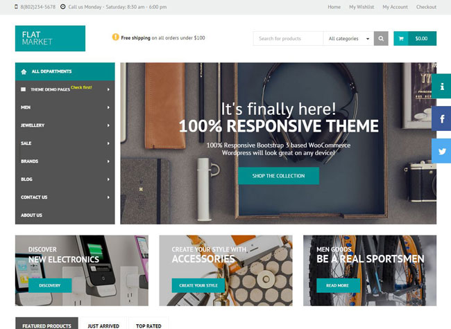 FlatMarket WordPress Theme